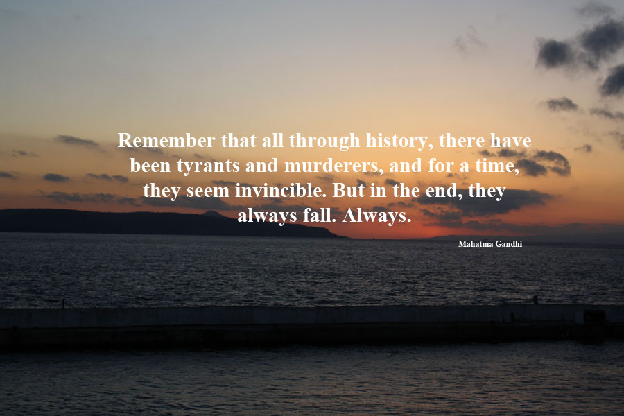 remember me ghandi quote