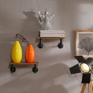 Yoga Industrial Pipe Wall Shelf Floating Hanging Shelves