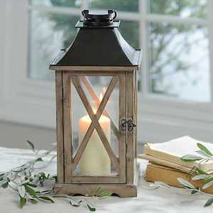 Candle Lanterns - Natural Wood Lantern
