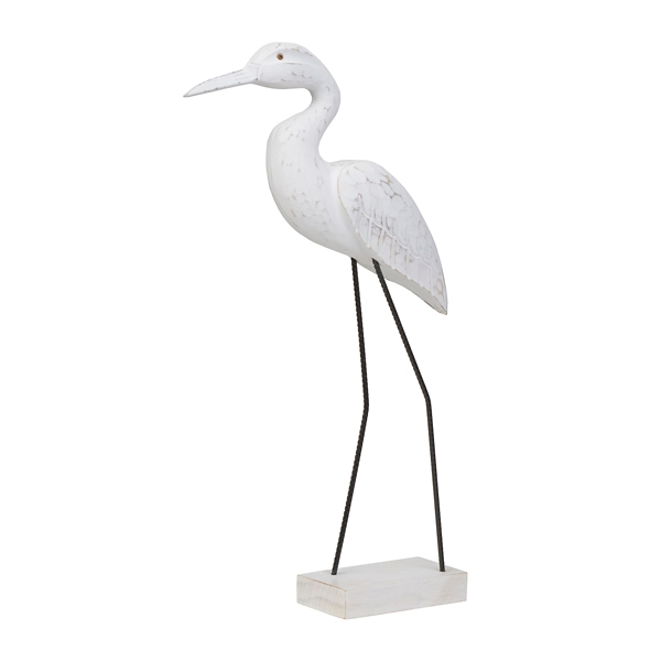 Statues & Figurines - Carved Seabird Statue, 20 in.