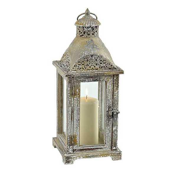 Candle Lanterns - Antique Metal Dome Lantern