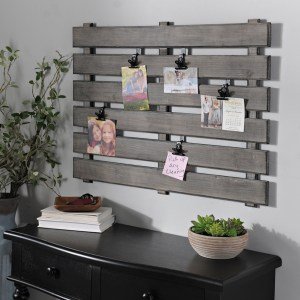 Collage Frames - Gray Wood Pallet Clip Collage Frame