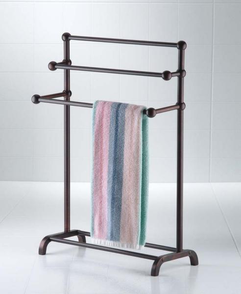 Bathroom Decor - Bronze Deluxe 3-Tier Towel Valet