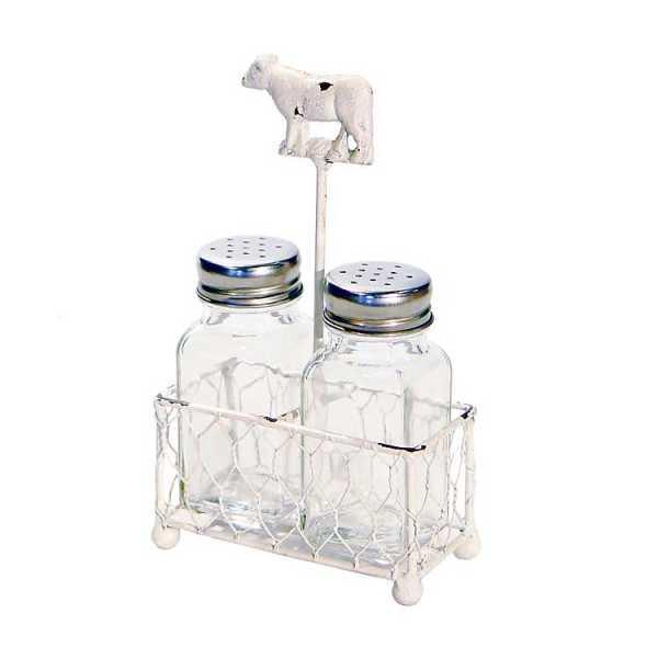 Kitchen Accessories - White Cow Salt and Pepper Shaker Set