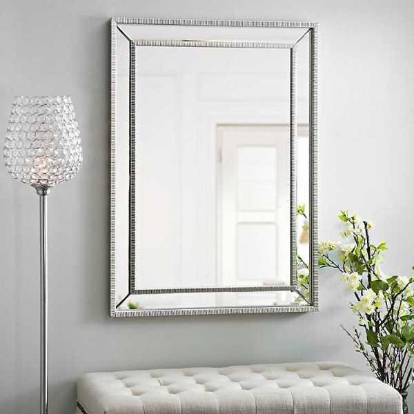 Wall Mirrors - Medium Silver Luxe Mirror, 31.5x43.5 in.