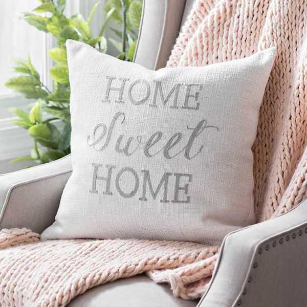 Throw Pillows - Linen Home Sweet Home Pillow