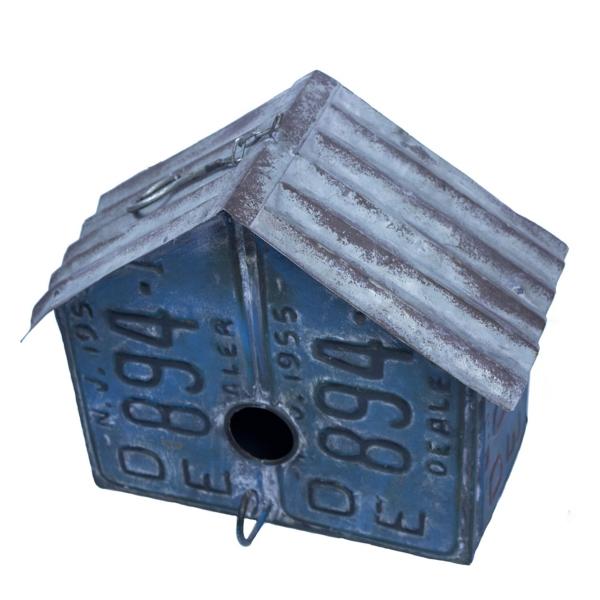 Garden Decor - License Plate Birdhouse