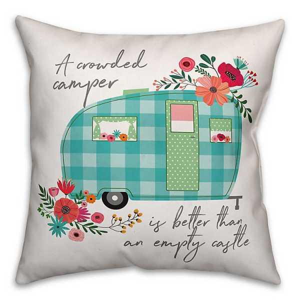 Throw Pillows - Floral Camper Double-Sided Pillow