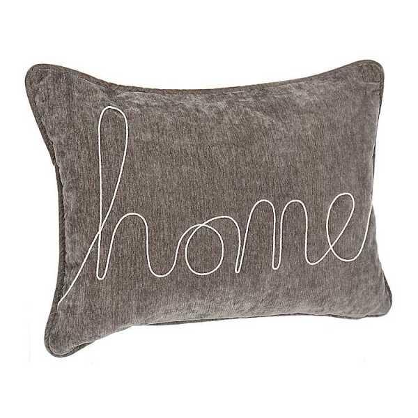 Throw Pillows - Gray Home Rope Velvet Accent Pillow