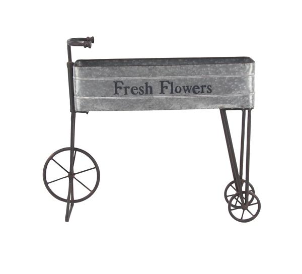 Garden Decor - Iron Fresh Flowers Bicycle Planter