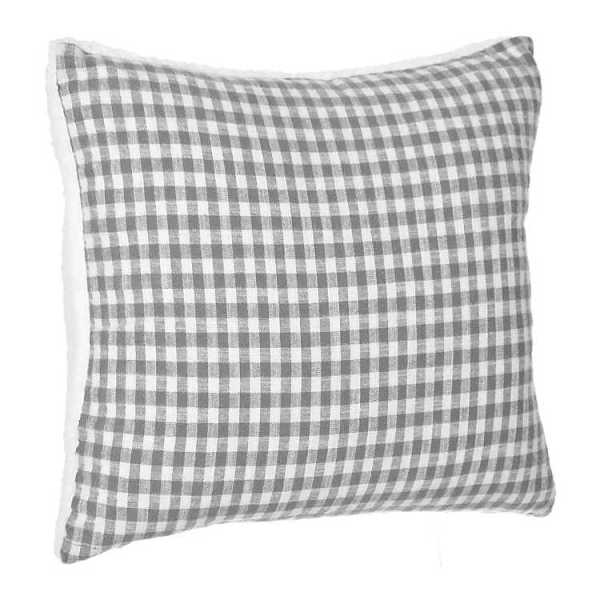 Throw Pillows - Let's Cuddle Gingham Sherpa Pillow