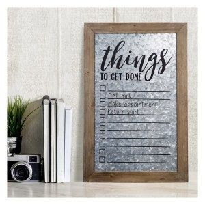 Rustic Galvanized Metal To Do List White Board