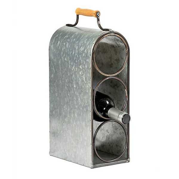 Kitchen Accessories - Galvanized Wine Bottle Holder