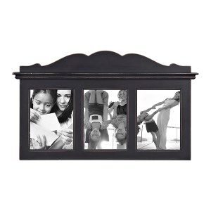 Collage Frames - Black Headboard Pane Arch 3-Opening Collage Frame