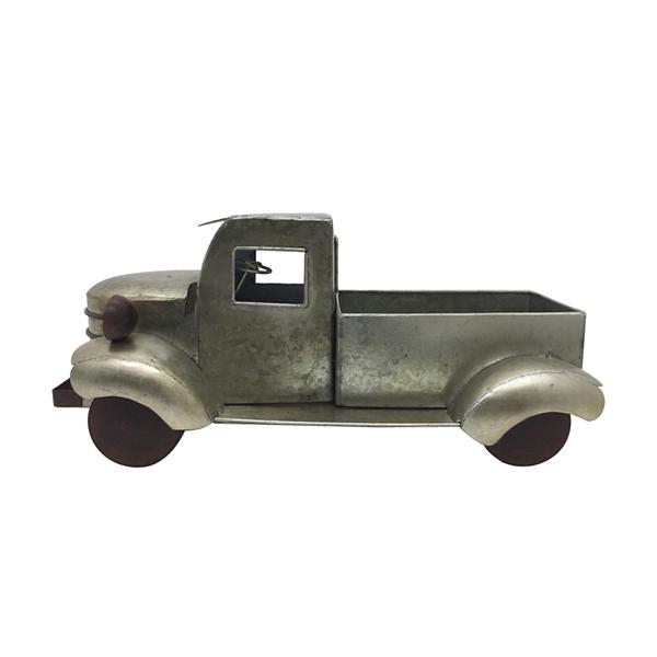 Statues & Figurines - Silver Metal Pickup Truck Figurine