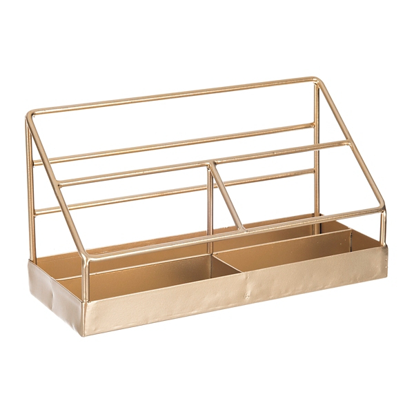 Decorative Accessories - Gold Bars Mail Holder Desk Accessory