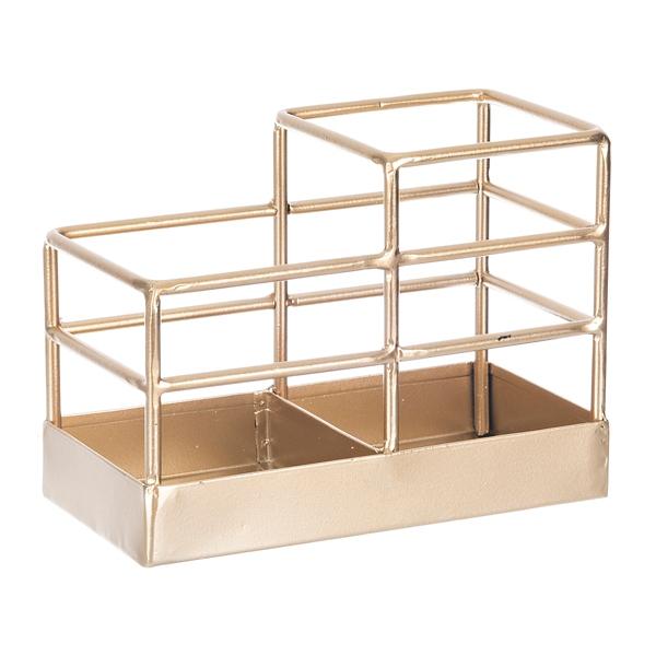 Decorative Accessories - Gold Bars Desk Accessory Utensil Caddy