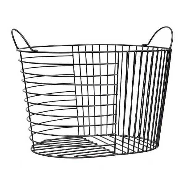 Baskets & Boxes - Black Bars Metal Basket