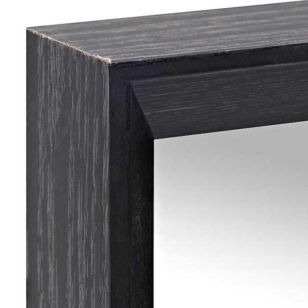 Wall Mirrors - Black Wood Rectangle Framed Wall Mirror, 22x28