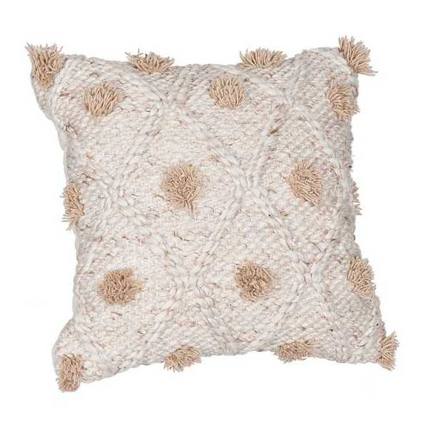 Throw Pillows - Beige Multi-Texture Pillow