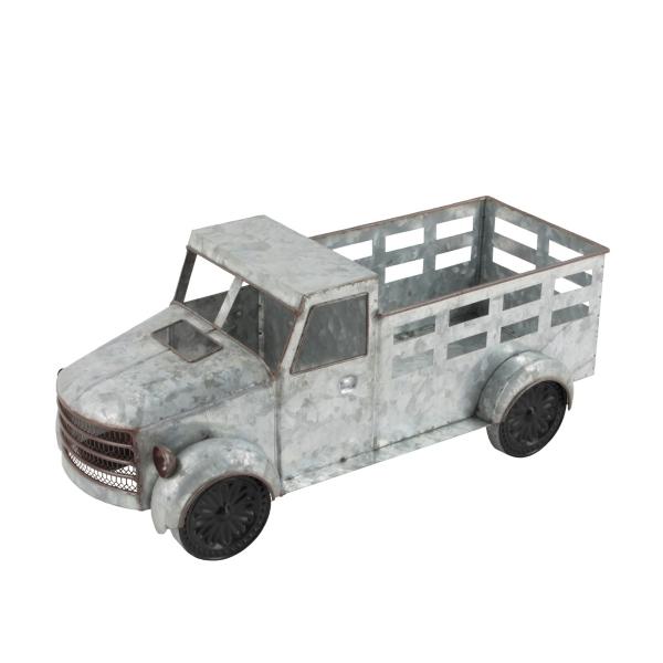 Statues & Figurines - Vintage Silver Metal Truck