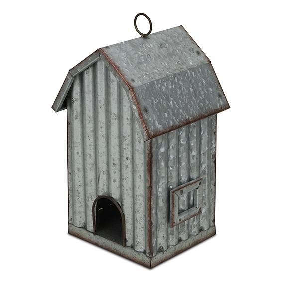 Garden Decor - Metal Hanging Birdhouse
