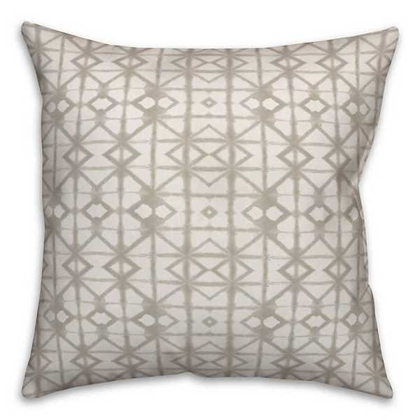 Throw Pillows - Natural Shibori Print Pillow
