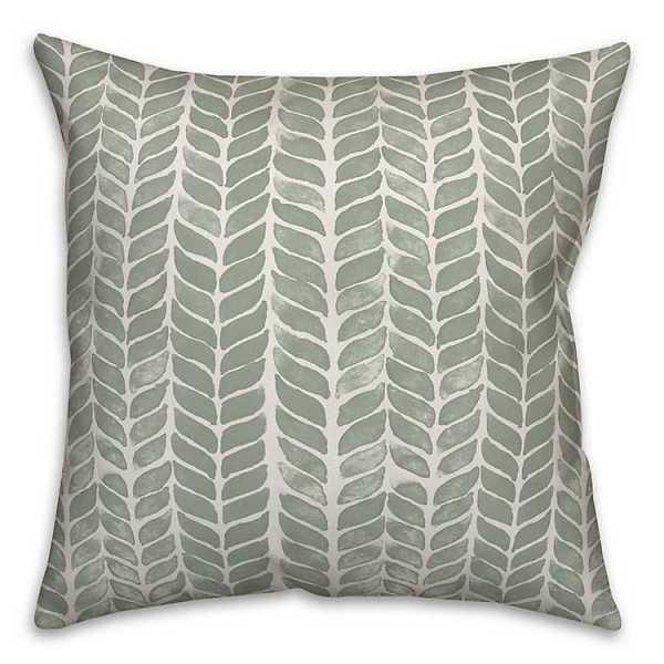 Throw Pillows - Watercolor Green Leaf Print Pillow