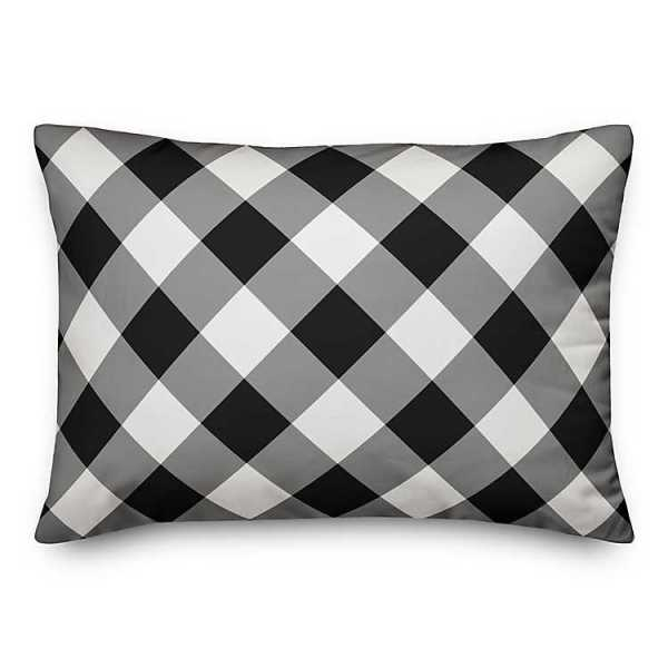 Throw Pillows - Black and White Grateful Heart Pillow