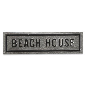 Galvanized Metal Beach House Sign