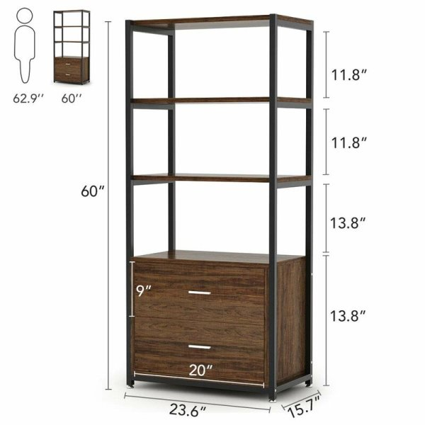 jill-3-tier-open-shelf-and-2-large-drawers-standard-bookcase2