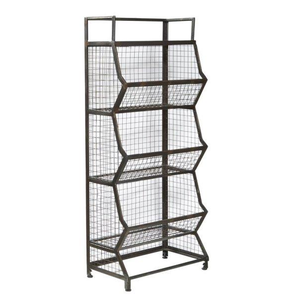 karina-3-tiered-distressed-metal-standard-bookcase