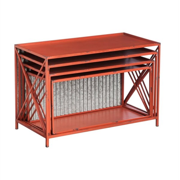 margarita-red-distressed-bookcase-with-galvanized-corrugated-metal-back2