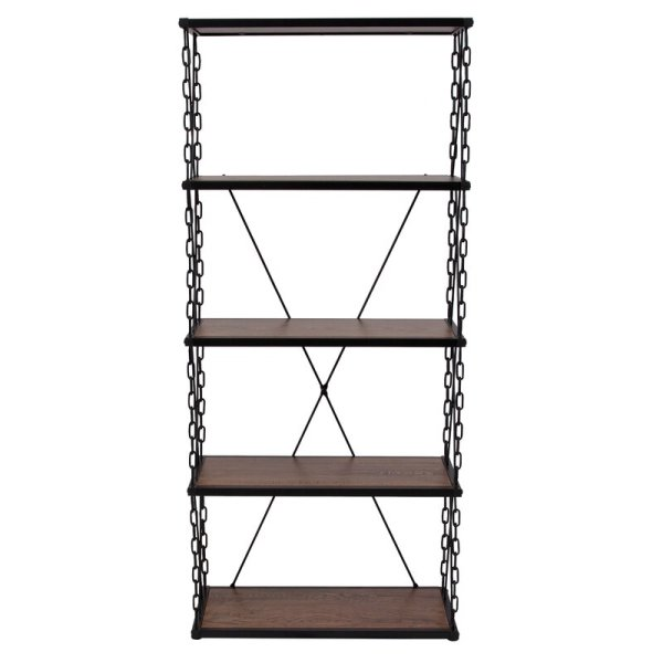 rafela-4-shelf-with-stylish-chain-frame-standard-bookcase