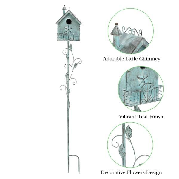 Outdoor Birdhouses on Pole Partial details