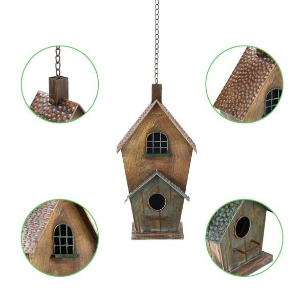 Outdoor Hanging Birdhouses with Window Partial details