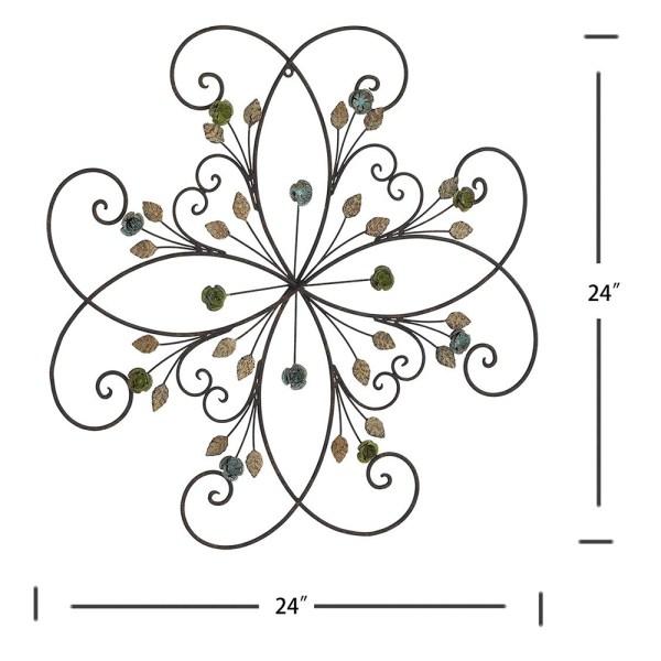 Large Metal Flower Wall Decor Dimensional Drawings