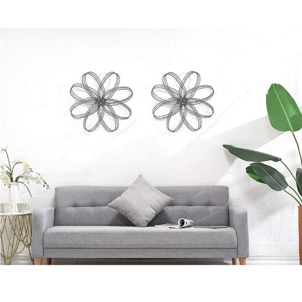 Rustic Iron Flower Wall Decor Real Shot 1