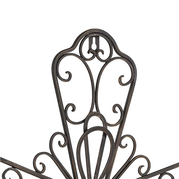 Large Rustic Metal Flower Type Cross Wall Decor Partial details 1