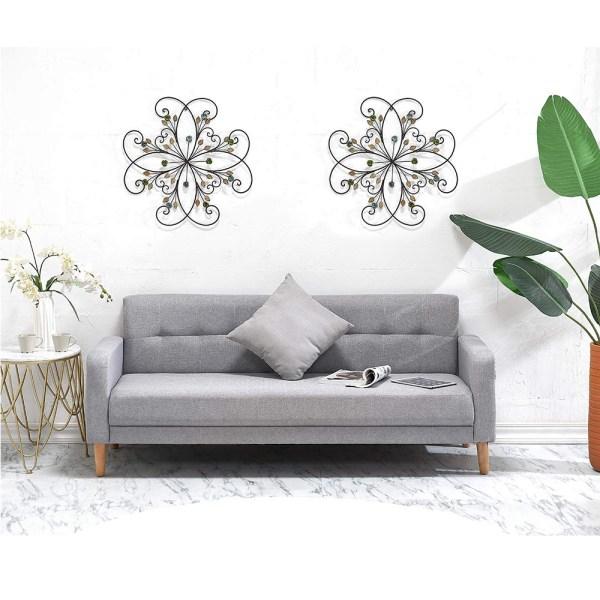 Large Metal Flower Wall Decor Real Shot1