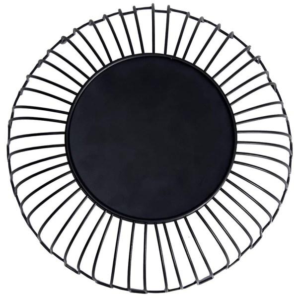 Large Black Metal Wire Fruit Baskets