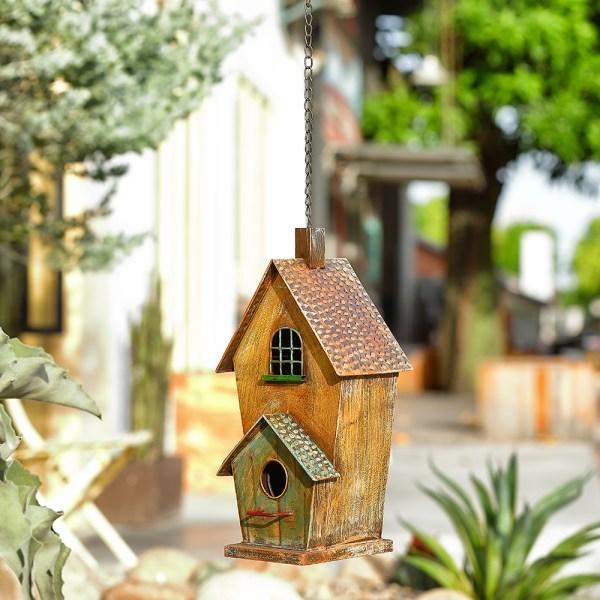 Outdoor Hanging Birdhouses with Window Real Shot 3