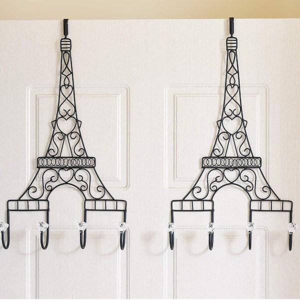 Metal Eiffel Tower Black Coat Hooks Real shot 2