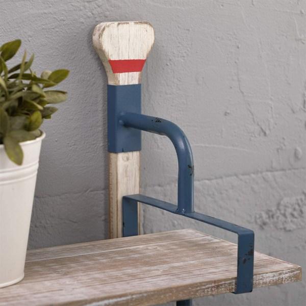 24inch Whitewash Wood Shelves Partial details 1