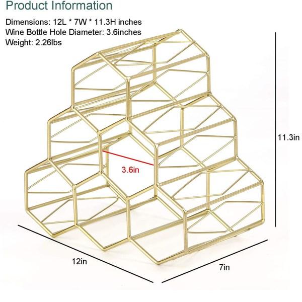 Golden Countertop Lattice Wine Rack Dimensional Drawings