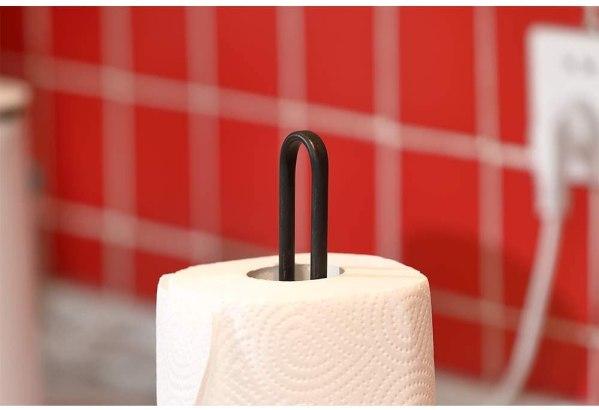 Kitchen Bronze Rustic Cross Paper Towel Holder Partial details 2