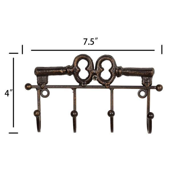 Rustic Decorative Wall Key Holder Dimensional Drawings