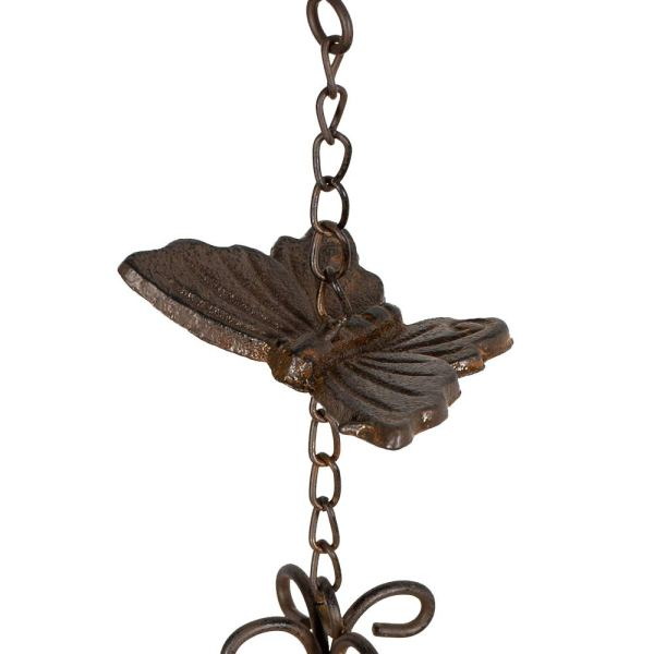 Large Vintage Metal Butterfly Wind Chimes Partial details 3