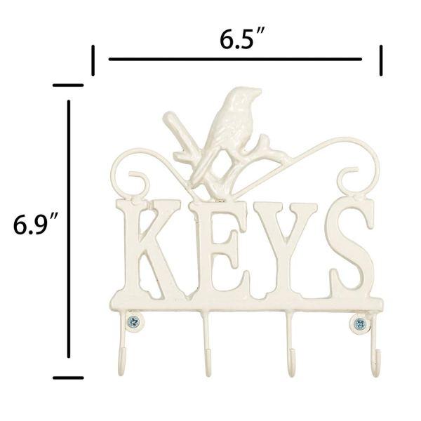 Modern White Animal Key Holder Dimensional Drawings