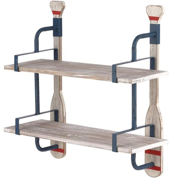 24inch Whitewash Wood Shelves